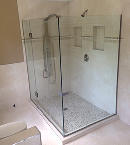 modern frameless shower enclosure MD