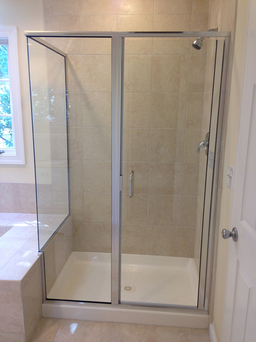 Attrayant Framed Shower Enclosure. Frameless Glass Doors